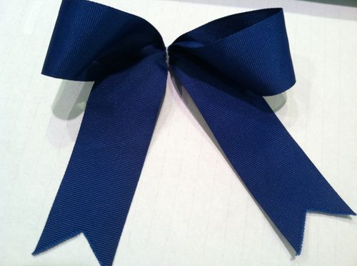Blue Single Bow